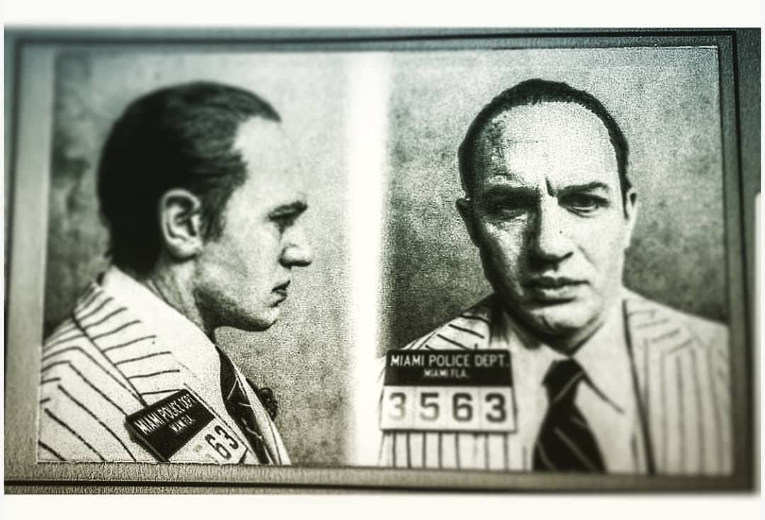 Tom Hardy as an aged Al Capone