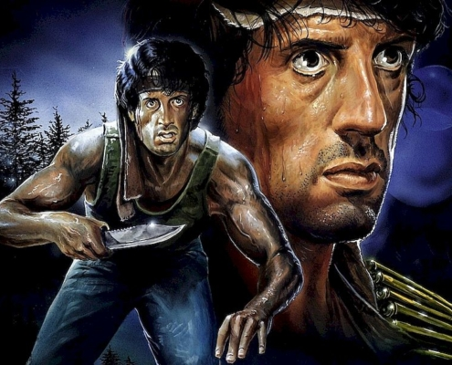 Stallone reveals giant knife