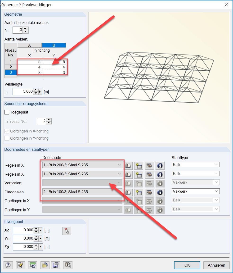 3D vakwerk genereren met 3D vakwerk in RFEM