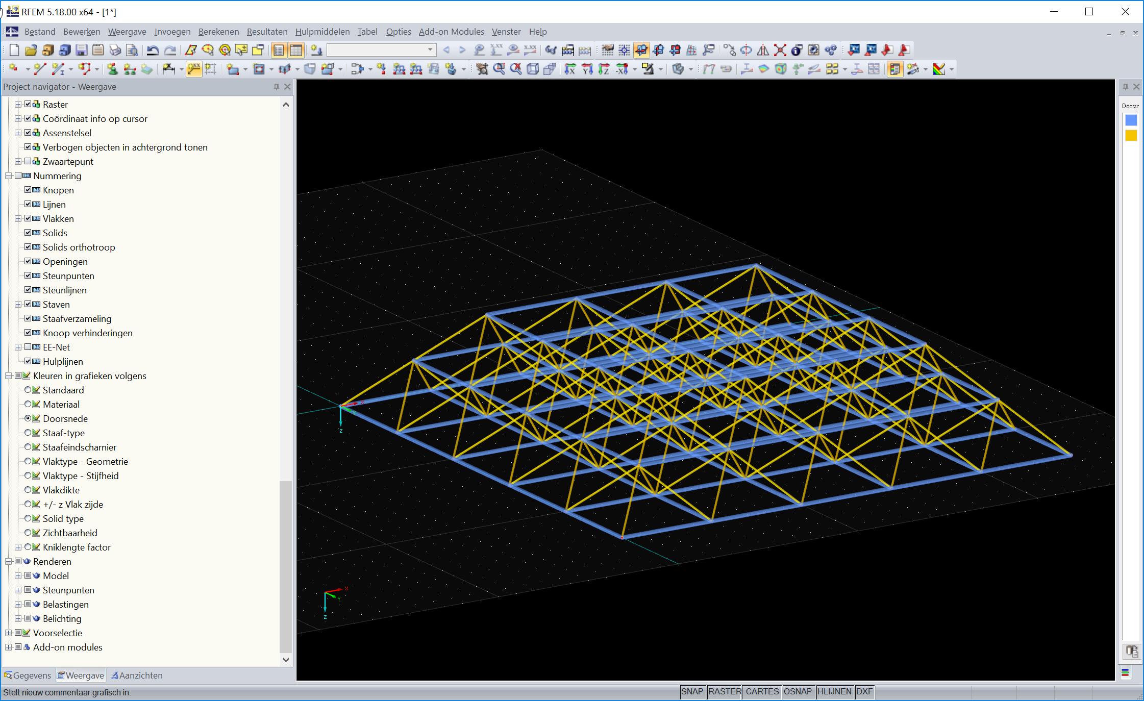 3D vakwerken modelleren en berekenen in RFEM rekensoftware