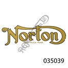"""NORTON REG''D TRADEMARK"" TRANSFER, GOLD WITH BLACK OUTLINE"