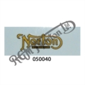"MINIATURE ""NORTON REG''D TRADEMARK"" FOR MUDGUARD, GOLD"