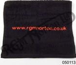RGM BLACK WITH RED LOGO TOWEL