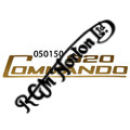 920 COMMANDO SIDE PANEL DECALS, GOLD (PR)