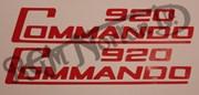 920 COMMANDO SIDE PANEL DECALS, RED (PR)
