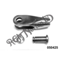 """LEFT HAND CLEVIS FORK WITH STAINLESS PIN AND CLIP, 1/4"""" U.N.F"""