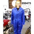 "RGM MOTORS ROYAL BLUE BOILER SUIT, POLYESTER/COTTON SIZE 52"" LONG"