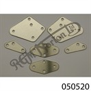 ST/STEEL REVERSE CONE MOUNTING PLATE SET (6)  (BRUSHED FINISH)