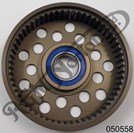 ANODISED COMMANDO BELT DRIVE CLUTCH DRUM WITH BEARING, 54 TEETH