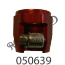 """RED ANODISED ENCAPSULATED JUBILEE CLIP FOR 1/4"""" BORE HOSE"""