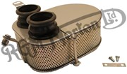 COMPLETE TWIN CARB AIR FILTER ASSEMBLY, NON STAINLESS STEEL [I.E PAINTED]