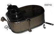 COMPLETE TWIN CARB AIR FILTER ASSEMBLY, STAINLESS STEEL