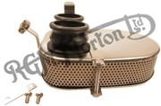 COMPLETE TWIN CARB NARROW AIR FILTER ASSEMBLY, STAINLESS STEEL