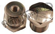 FORK STANCHION TOP NUTS, COMMANDO STAINLESS STEEL (PAIR)