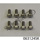 ROCKER SPINDLE OUTER COVER PLATES BOLTS, TWINS (SET OF 8)