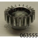 """EXHAUST ROSE FOR TWIN CYLINDER LATER SQUARED FIN (850) PLATED BRASS, 3/4"""" THREAD"""