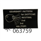 MK2 (R/H) GEARSHIFT PATTERN DECAL