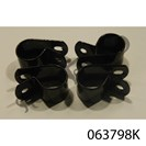 GRABRAIL CLAMPS, BLACK, SET OF FOUR