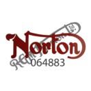 NORTON TANK DECAL, RED