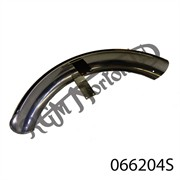 COMMANDO FRONT MUDGUARD, STAINLESS, WITH 2 HOLES FOR REAR STAY & ST/ST BRIDGE