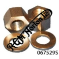 "STAINLESS CYLINDER HEAD FRONT NUTS AND WASHERS 5/16"" (PR)"