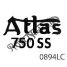 "BLACK ""ATLAS 750SS"" TANK TOP DECAL"