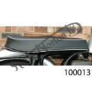 SLIMLINE SEAT, BLACK WITH WHITE BEAD, UK MADE