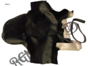 FASTBACK SEAT COVER, BLACK WITH EARS