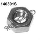 "1/4"" UNF,  PLAIN FULL NUT FOR OIL TANK (STAINLESS)"