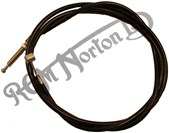 """CLUTCH CABLE WITH 1/4"""" BSF GEARBOX ADJUSTER"""
