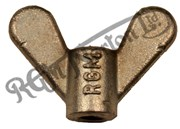 1/4 UNF STAINLESS WING NUT SHORT FOR PANELS ETC