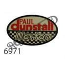 "BLACK/WHITE/RED PAUL DUNSTALL - NORTON TANK 4"" WATERSLIDE"