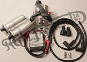 ELECTRONIC IGNITION TO REPLACE MAGNETO FOR TWIN CYLINDER, 12 VOLT (2 COILS)