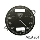 CHRONOMETRIC REPLACEMENT SPEEDO CLOCK FACE, 10 - 80 MPH
