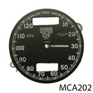 CHRONOMETRIC REPLACEMENT SPEEDO CLOCK FACE, 10 - 120 MPH