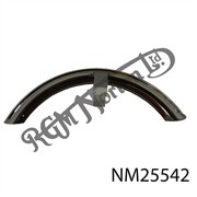 """S"" TYPE FRONT MUDGUARD IN STAINLESS STEEL, 4""WIDE, WITH PAINTED FLAT STAY"