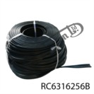 BLACK RUBBER BACKING CHANNEL FOR TANK STRAP (100M)