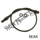 REAR STAINLESS BRAIDED BRAKE HOSE COMPLETE WITH STAINLESS FITTINGS