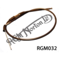"""THROTTLE CABLE FOR SINGLE CARB UPTO 1975, 36"""" OUTER"""