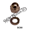 "1/4"" UNF, DOMED NUT AND WASHER FOR ZENER DIODE"