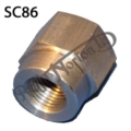 DOMED WHEEL SPINDLE NUT, COMMANDO (18 T.P.I)