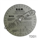 CIRCULAR TIMING DEGREE DISC PRINTED WITH INSTRUCTIONS