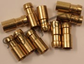 CRIMP ON BRASS BULLET CONNECTORS FOR 2MM CABLE (10)
