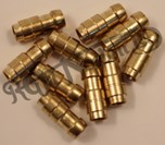 CRIMP ON BRASS BULLET CONNECTORS FOR 1MM CABLE (10)
