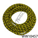 CLOTH COVERED COPPER CORED HT LEAD YELLOW/BLACK (FT)