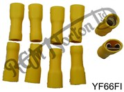 YELLOW FEMALE FULLY INSULATED SPADE CONNECTORS (10)