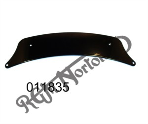 FRONT NUMBER PLATE BLADE, BLACK, DOMI, 650, ATLAS & EARLY COMMANDO