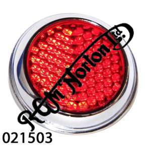 "EARLY TYPE ROUND RED SIDE REFLECTOR 2"" DIAMETER"