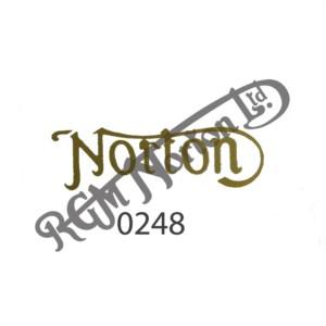 """NORTON"" GOLD WATERSLIDE TRANSFER FOR CHAINCASE"