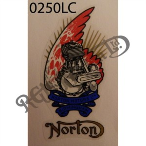 "PRE 1926 ""NORTON/ENGINE ON BIRDS WING"" VINYL DECAL"